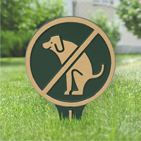 No Dog Poop Gardenboss Petite Lawn Stake Sign