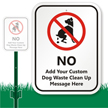 Custom Dog Poop Sign