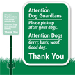 Attention Dog Guardian Sign