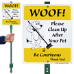 Pick Up Poop LawnBoss® Sign & Stake Kit
