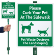 Curb Your Pet At The Sidewalk Sign