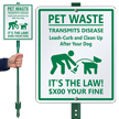 Custom Clean Up After Your Dog Sign Kit