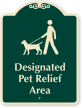 Designated Pet Relief Area Sign