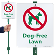 Dog Free Lawn Sign