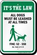 Dog Leash Sign For Alabama