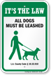 Dog Leash Sign For California