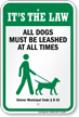 Dog Leash Sign For Colorado