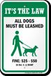 Dog Leash Sign For Delaware
