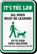 Dog Leash Sign For Florida