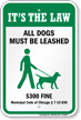 Dog Leash Sign For Illinois