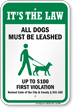 Dog Leash Sign For Indiana