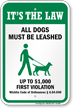 Dog Leash Sign For Kansas