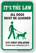 Dog Leash Sign For Maine