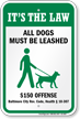Dog Leash Sign For Maryland