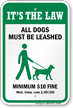 Dog Leash Sign For Michigan
