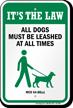 Dog Leash Sign For Minnesota