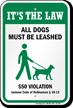 Dog Leash Sign For Mississippi