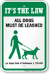 Dog Leash Sign For Nevada