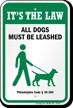 Dog Leash Sign For Pennsylvania