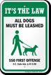 Dog Leash Sign For South Carolina