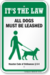 Dog Leash Sign For Texas