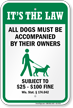 Dog Leash Sign For Wisconsin