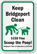 Dog Poop Sign For Connecticut
