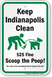 Dog Poop Sign For Indiana