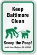 Dog Poop Sign For Maryland