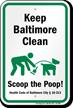 Dog Poop Sign For Maryland