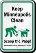 Dog Poop Sign For Minnesota