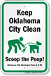 Dog Poop Sign For Oklahoma
