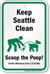 Dog Poop Sign For Washington