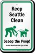 Dog Poop Sign For Washington