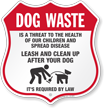 Dog Poop Shield Sign