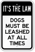 Dog Leash Law Sign