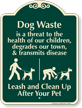Dog Waste Threat Children Health Clean Up Sign