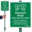 Humorous LawnBoss® Sign & Stake Kit