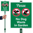 Please No Dog Waste In Garden LawnBoss Sign