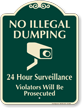 No Illegal Dumping Video Surveillance Sign