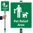 Pet Relief Area LawnBoss™ Sign & Stake Kit