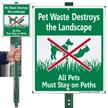 Pet Waste Destroys The Landscape Sign