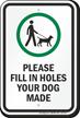Dog Leash Sign