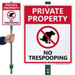 Private Property No Trespooping, No Poop LawnBoss Sign