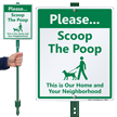 Dog Poop Lawnboss Sign