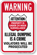 Violators Prosecuted For Dumping Warning Sign