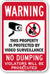 Violators Will Be Prosecuted No Dumping Sign