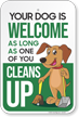 Dog Clean Up Sign
