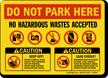 Do Not Park Sign