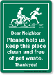 Help Keep Place Clean Dog Poop Sign